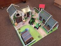 ELC wooden farm with tractor and quad bike