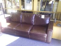 Brown leather sofa REF:GT065