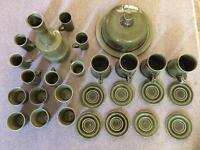 Green Crockery Display Set 28 piece
