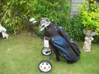 PING IST.K GOLF CLUBS IN BAG WITH TROLLEY MENS RIGHT HAND