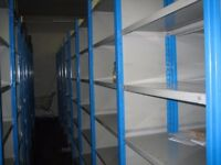 10 bays of dexion impex industrial shelving 2.4m high ( storage , pallet racking )