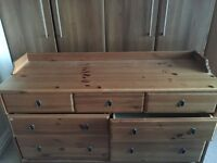 7 drawer oak chest available