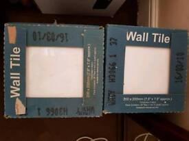 4 x packs white tiles