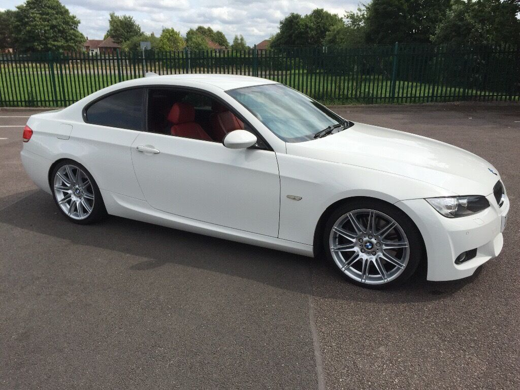 Bmw 335d m sport white red leather need mortgage deposit quick sale needed