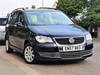 7 Seater -- 2008 Volkswagen Touran 1.6 -- Part Exchange OK -- alike toyota verso vauxhall zafira