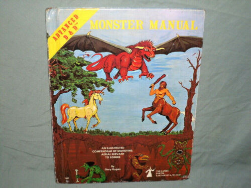 The Original AD&D 1st Ed Hardback -  MONSTER MANUAL  (RARE FROM 1979 and VG!!)