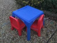 ELC Children's Table and Two Chairs