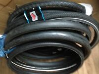 28 26 20 inch slick road city tyres for hybrid bikes (700 622 din)
