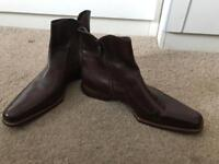 Oliver Sweeney NOTCH Men's Dark Brown Leather Chelsea Boots (SIZE: 10.5) NEW