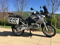 BMW R1200 GS Purchased in March 09 with 1k miles, absolutely immaculate, ready for next big trip.