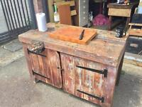 Gorgeous Vintage Work Bench Sanded, Oiled & Waxed Now A Stunning Kitchen Island
