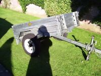 Paxton heavy guage tipping trailer Size 140 cms X 93 cms, Very little used.