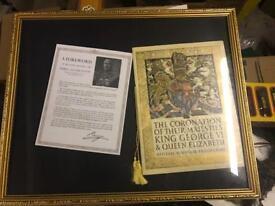 King George the 6th coronation souvenir