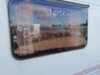 Elddis Vogue Caravan side window