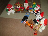 christmas musical/soft toys, cds, decs, and more