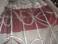 Curtains with tie backs 66 inch x 54 inch