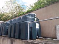 2400 litre Bunded Oil Tank with alarm system