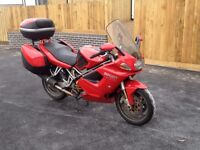 Ducati ST4S Red Sports Tourer Motorbike with luggage