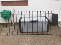Metal Garden Fencing and Gate