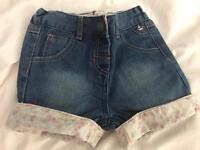 Jojo maman baby girls shorts 2-3 yrs