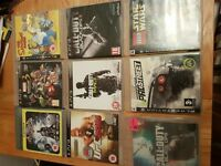 PS3, two controllers and games