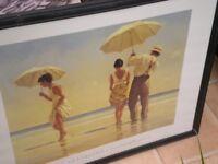 2 jack vettriano framed prints