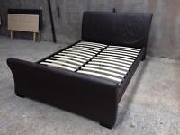 Leather Kingsize Bed Frame