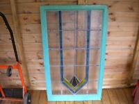 Landing wooden window
