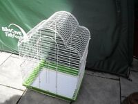 WHITE PARROT CAGE