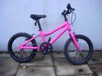 Kids Bike by Ridgeback, Pink, 16 inch Wheels are Great for Kids 5+ yrs, JUST SERVICED/ CHEAP PRICE!!