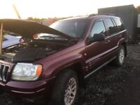 Jeep Grand Cherokee Diesel Spare Parts head lights bumper bonnet wing alloy wheels doors ecu set