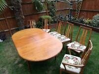 G Plan table and chairs