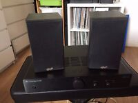 Speakers and amplifier - ideal for use with record turntable - excellent condition - £85