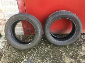 Two Goodyear tyres