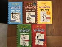 Children's Books, Diary of a Wimpy Kid Series x 5