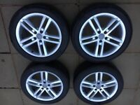 "Audi alloys 18"" or 16"" with tyres"