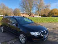 VW PASSAT BLACK 5dr ESTATE 1.6 DIESEL