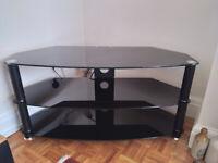 Black glass TV stand - FREE