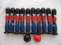 Set of Toy Soldier Wooden Skittles. Good, Used Condition.