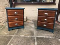 Bedside Tables x 2 Shabby Chic