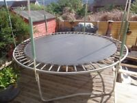 Plum 10ft Trampoline Dismantled and ready to be collected in perfect used condition