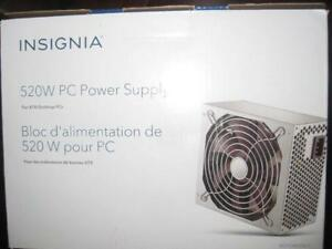 Insignia - 520W ATX Power Supply psu for Desktop Computer PC. Works with Intel and AMD Game System. NEW