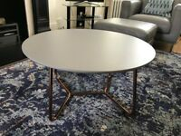 Made. Coffee Table. Stylish and Modern. Brass