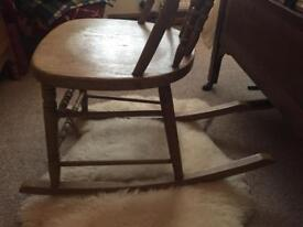 Antique pine rocking chair