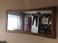 Oak furniture mirror