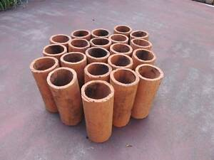 Terracotta Pipes – round - great for growing herbs, succulents Launceston Launceston Area Preview