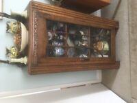 Dark oak display cabinet