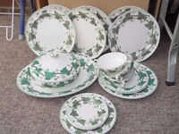 Collection of Wedgwood Napoleon Ivy crockery