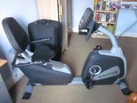 Kettler reclining exercise bike for sale with full instructions and heart monitoring.