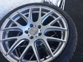 Rims and tyres for a golf